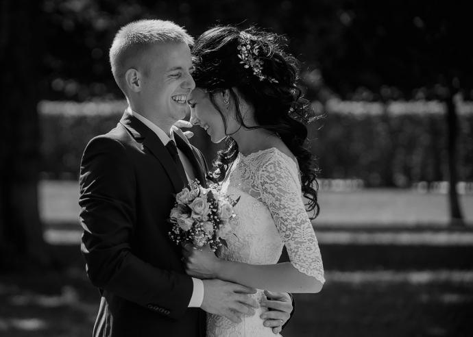 черно-белое свадебное фото ae1acc11