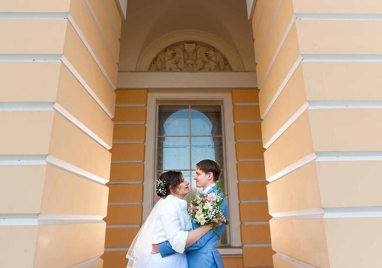 свадебное фото на сверхширокоугольный объектив