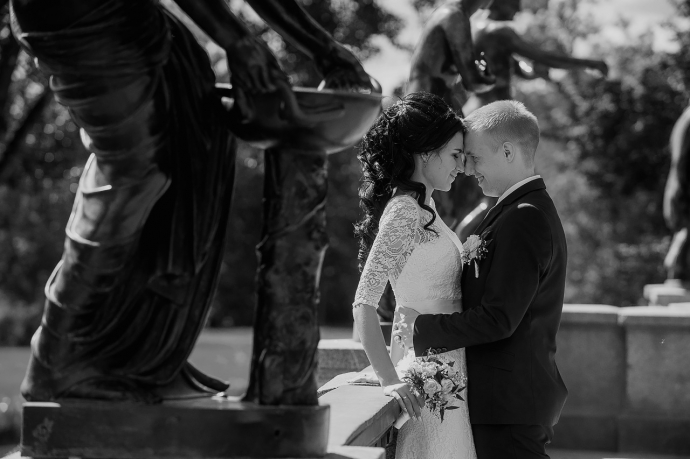черно-белое свадебное фото 95380178