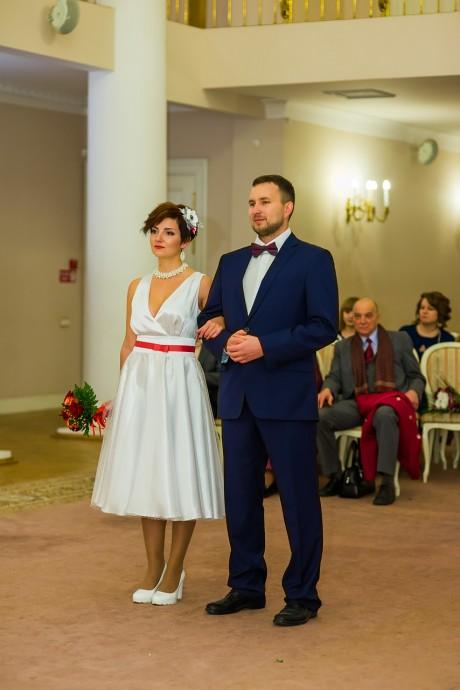 Торжественная регистрация брака во Дворце бракосочетания №3 города Пушкин
