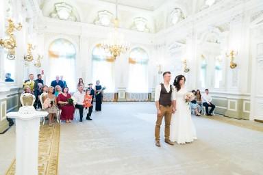 Дворец бракосочетания №1 фото с регистрации брака на Английской набережной