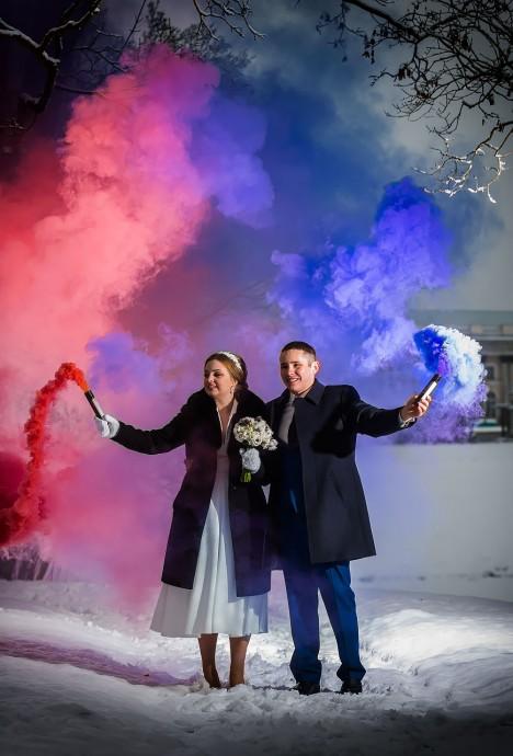 Пушкин. Свадьба зимой. Цветной дым