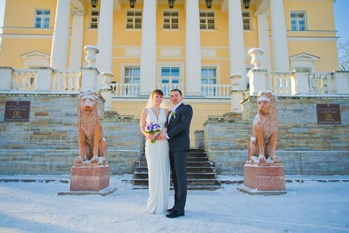 Свадьба Зимой в Пушкине